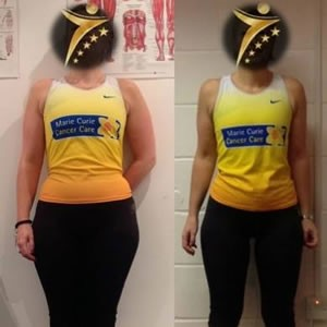 Female client fitness transformation
