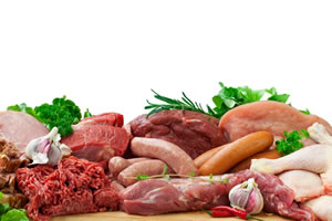 Protein rich meal of meat