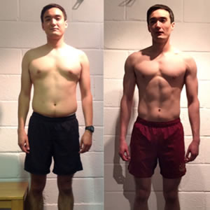 Simon Miller fitness transformation