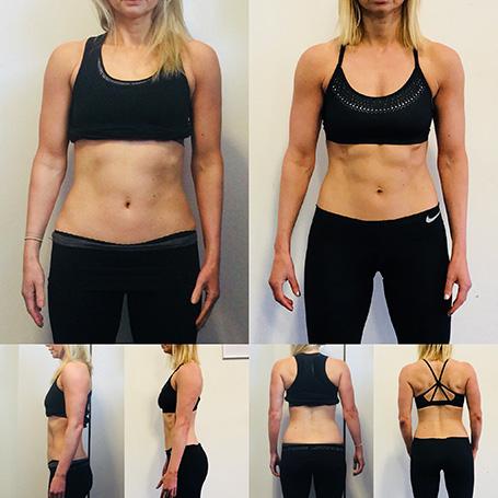 Female fitness transformation